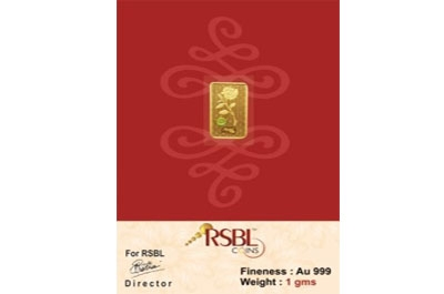 RSBL eCoins 1 gm Gold Coin 24 kt purity 999 Fineness