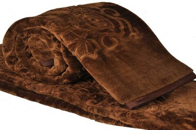 Little India Embossed Design Double Bed Soft Mink Blanket Modern Ethnic Blanket