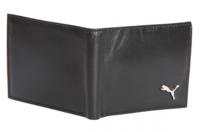 Puma Leather Black Wallet For Men