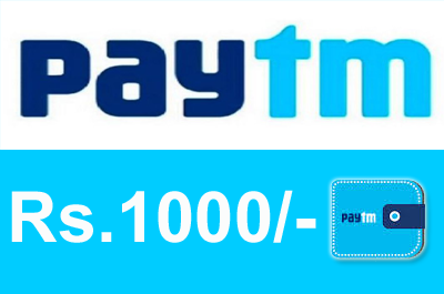 PAYTM Rs 1000 Cash
