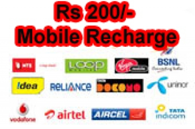 Rs 200 Mobile TopUp Recharge