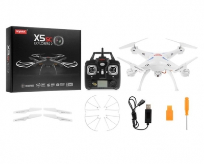 AZI Syma X5SC Explorers 2 -2.4G 4 Channel 6-Axis Gyro RC Headless Quadcopter Helicopter with HD Camera