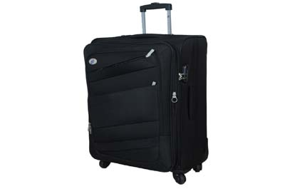 American Tourister Large Size Impression Spinner Black 79 Cm 4 Wheel Trolley