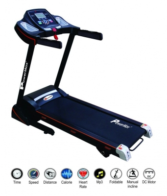Powermax Fitness TDM-100 S Motorized Treadmill 1.5 HP