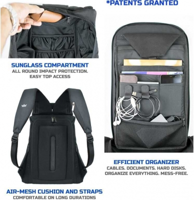 15.6 inch Laptop Backpack  (Black)
