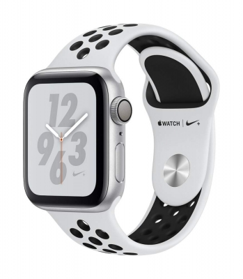 Apple Watch Nike+ Series 4 (GPS, 40mm) - Silver Aluminium Case with Pure Platinum/Black Nike Sport Band