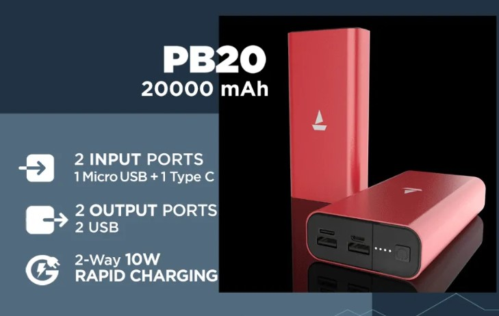 boAt PB20 Power Bank 20000mah